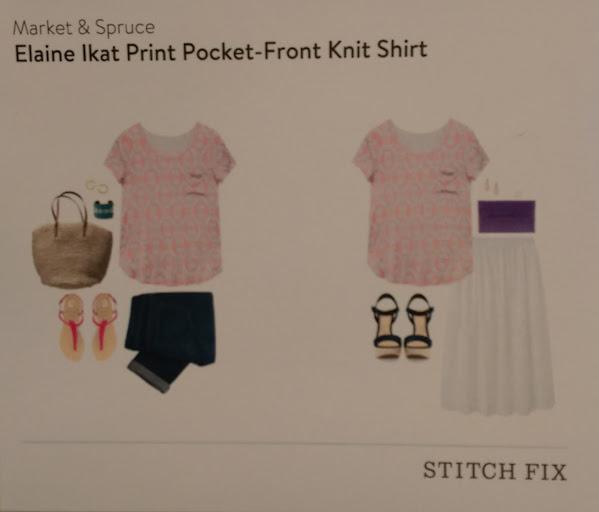 Market & Spruce Elaine Ikat Print Pocket - Front Knit Shirt Stitch Fix https://www.stitchfix.com/referral/3590654