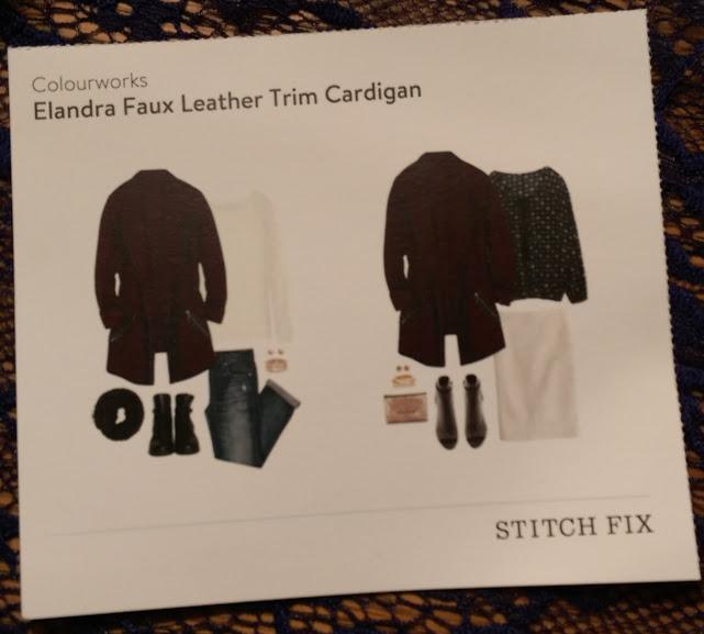 Colourworks Elandra Faux Leather Trim Cardigan @stitchfix stitch fix https://www.stitchfix.com/referral/3590654