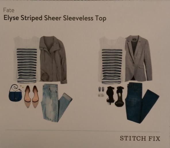 Fate Elyse Striped Sheer Sleeveless Top Stitch Fix https://www.stitchfix.com/referral/3590654