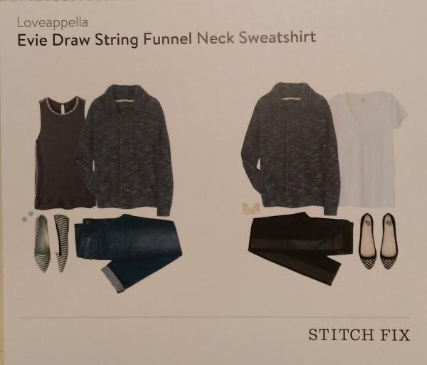 Loveappella Evie Draw String Funnel Neck Sweatshirt Stitch Fix https://www.stitchfix.com/referral/3590654